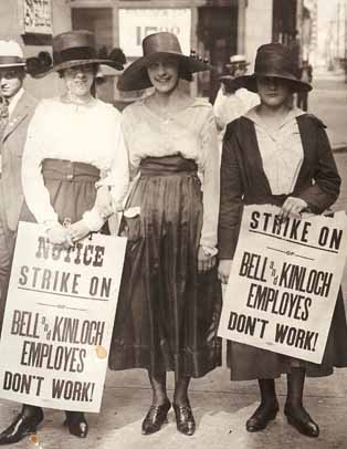 Bell telephone on strike